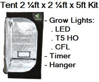 Grow Tent 2 1/4' x 2 1/4' x 5'