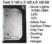 Grow Tent 3 1/4ft x 3 1/4ft x 6 1/2ft