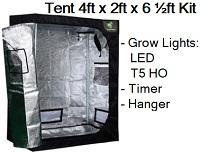 Grow Tent 4ft x 2ft x 6 1/2ft