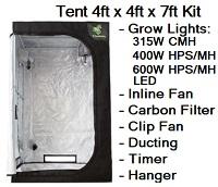 Grow Tent 4ft x 4ft x 7ft