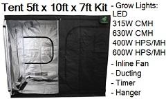 Grow Tent 5 ft x 10 ft x 7 ft