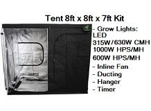 Grow Tent 8ft x 8ft x 7ft